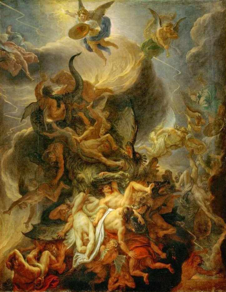Image result for charles le brun the fall of the rebel angels